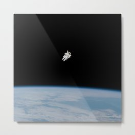 Incredible NASA Astronaut In Space Metal Print