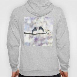 dark eyed juncos (bokeh and blossoms) Hoody