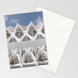 White Patterns   Museu de les Ciències Príncipe Felipe   Valencia Spain   Travel photography print   Architecture Photo art Stationery Cards