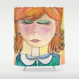 Red-Headed Pixie Shower Curtain