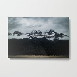 Black Mountain Totem Metal Print