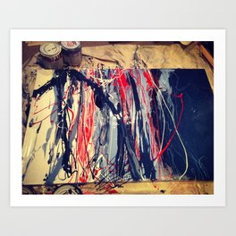 Blue_Red_In Process Art Print