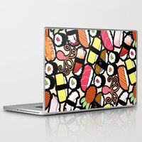 sushi Laptop & iPad Skins featuring Sushi! by thickblackoutline