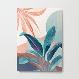 Abstract Art Tropical Leaves 15 Metal Print