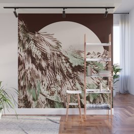 feather texture on circle Wall Mural
