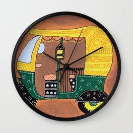 Auto Rickshaw Wall Clock