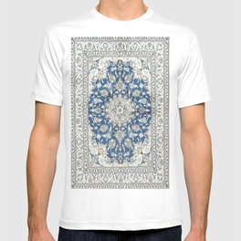 Antique Persian Rug - blue and gray T-shirt