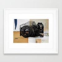 heroes of olympus Framed Art Prints featuring olympus by LouiJoverArt