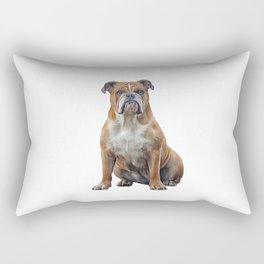 Drawing dog breed English Bulldog Rectangular Pillow