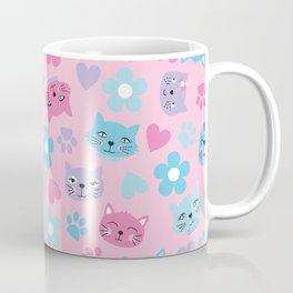 Kitty Cat Pattern by Everett Co Coffee Mug