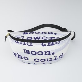 Freedom Books Flowers Happiness Fanny Pack