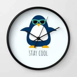Stay Cool Penguin Wall Clock