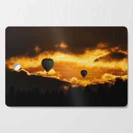 Balloon Race at Sunset Cutting Board