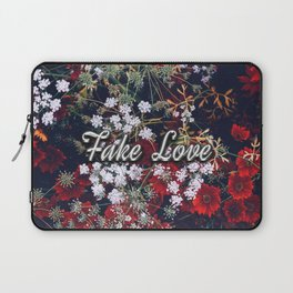 Fake Love Red Floral Laptop Sleeve