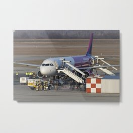 Wizz Air Jet And Fire Brigade Metal Print