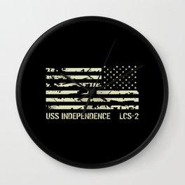 USS Independence Wall Clock