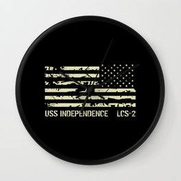 USS Independence Wall Clock