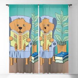 Dog Reading Blackout Curtain