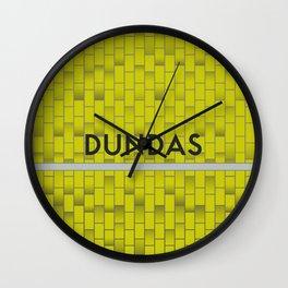 DUNDAS | Subway Station Wall Clock