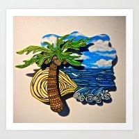 Palms and Tides Art Print