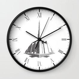 City Block Perspective Stipple Wall Clock