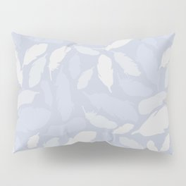 Feather Pattern Light Blue Pillow Sham