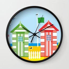 BEACH HUT Wall Clock