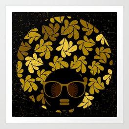 Afro Diva : Gold Art Print