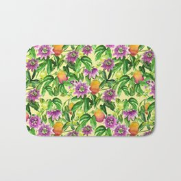 Passiflora vines Bath Mat