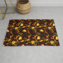 melancholy flowers small seamless pattern 01 edgy ember Rug