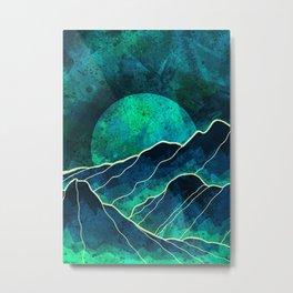 As a new moon rises Metal Print