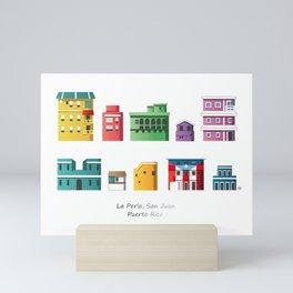 La Perla, San Juan (Puerto Rico) pattern Mini Art Print
