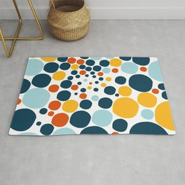 Abstract, happy colored balls Rug