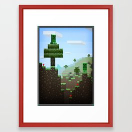 Pixel Art series 9 : Creep Framed Art Print
