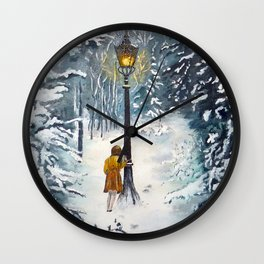 The Lamppost Wall Clock