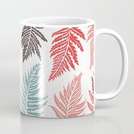 Inked Ferns – Red & Green Palette Coffee Mug