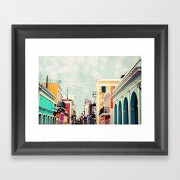 Colorful Buildings of Old San Juan, Puerto Rico Framed Art Print