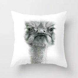 Ostrich G119 Throw Pillow