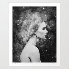 Head in the stars Art Print