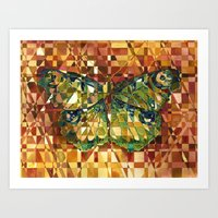 moth Art Prints featuring Moth by S.G. DeCarlo