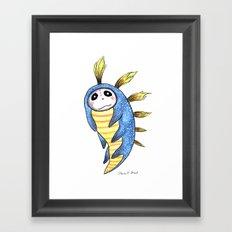 Blue Impworm Framed Art Print