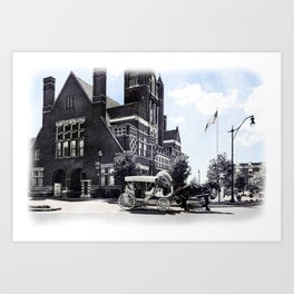 Historic Bardstown Carriage Art Print