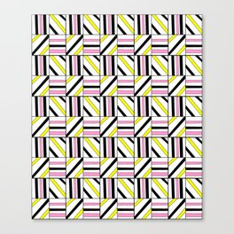 symetric tartan and gingham 2 -vichy, gingham,strip,square,geometric, sober,tartan Canvas Print