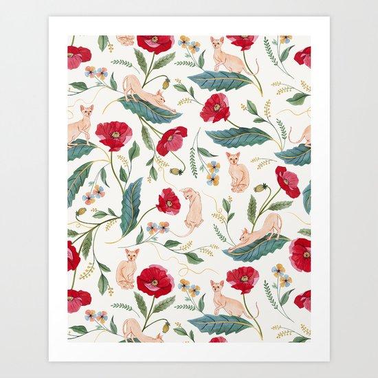 Ramona Poppy off-white by ramonathecat