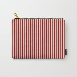 Vintage New England Shaker Village Milk Paint Barn Red Small Vertical Bedding Stripe Carry-All Pouch