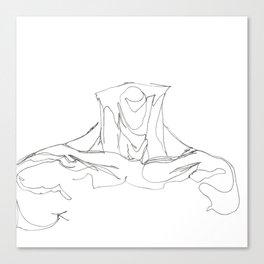 Line XIII (male [collar]) Canvas Print