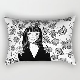 Girl in the wind Rectangular Pillow