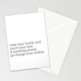 Parenting humor Stationery Cards