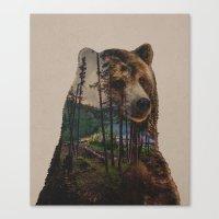 lake Canvas Prints featuring Bear Lake by Davies Babies