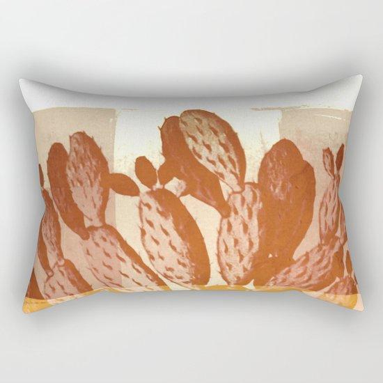 cactus vintage tones Rectangular Pillow